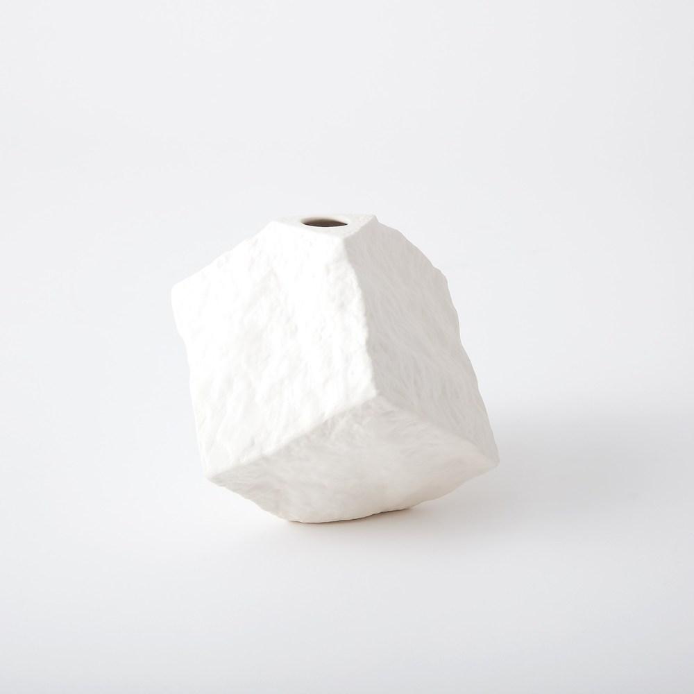 Global Views - Rocky Block Vase, Tilted, Large