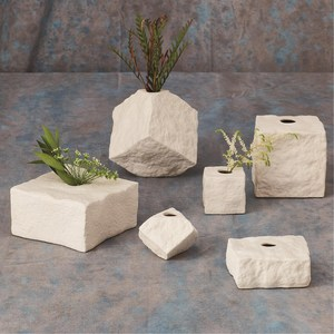 Thumbnail of Global Views - Rocky Block Vase, Tilted, Large