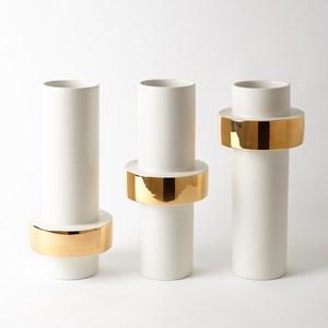 Thumbnail of Global Views - Gold Ring Vase, Mid