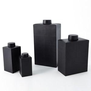 Thumbnail of Global Views - Grid Texture Jar, Black, Small