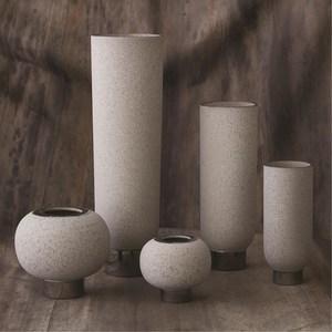 Thumbnail of Global Views - Silver Banded Sphere Vase, Grey, Large