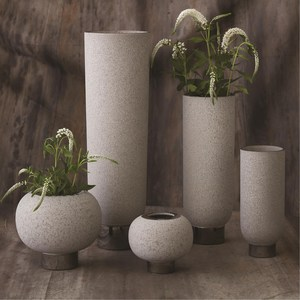 Thumbnail of Global Views - Silver Banded Sphere Vase, Grey, Small