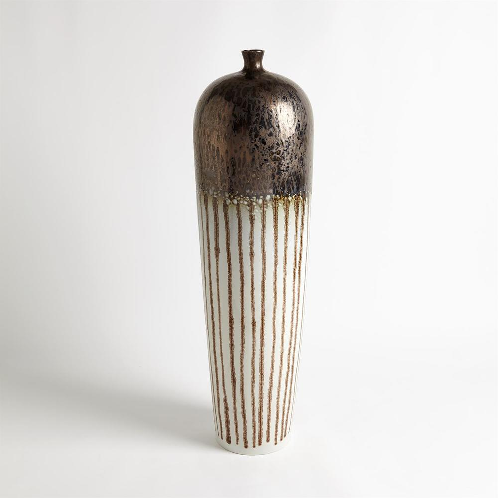 Global Views - Reactive Bronze Stripe Vessel, Tall