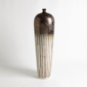 Thumbnail of Global Views - Reactive Bronze Stripe Vessel, Tall