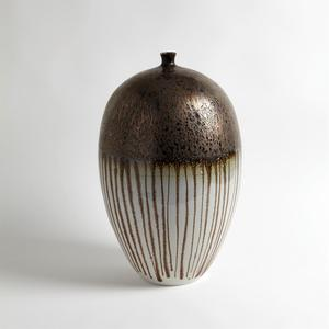 Thumbnail of GLOBAL VIEWS - Reactive Bronze Stripe Vessel, Large