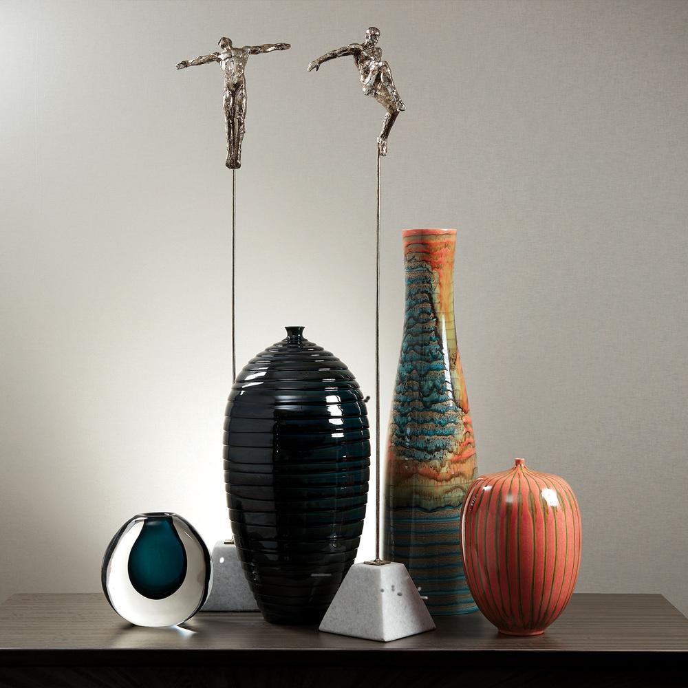 Global Views - Watercolor Ringed Vase