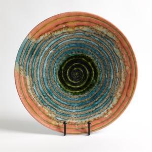 Thumbnail of GLOBAL VIEWS - Watercolor Ringed Charger