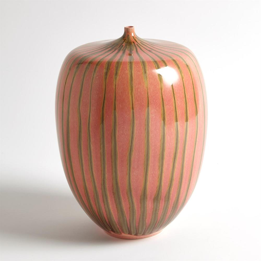 GLOBAL VIEWS - Striped Melon Vase, Large