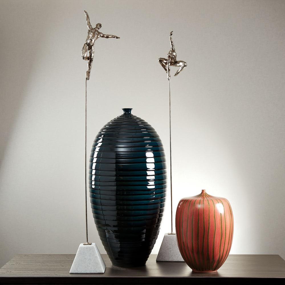 Global Views - Striped Melon Vase, Large