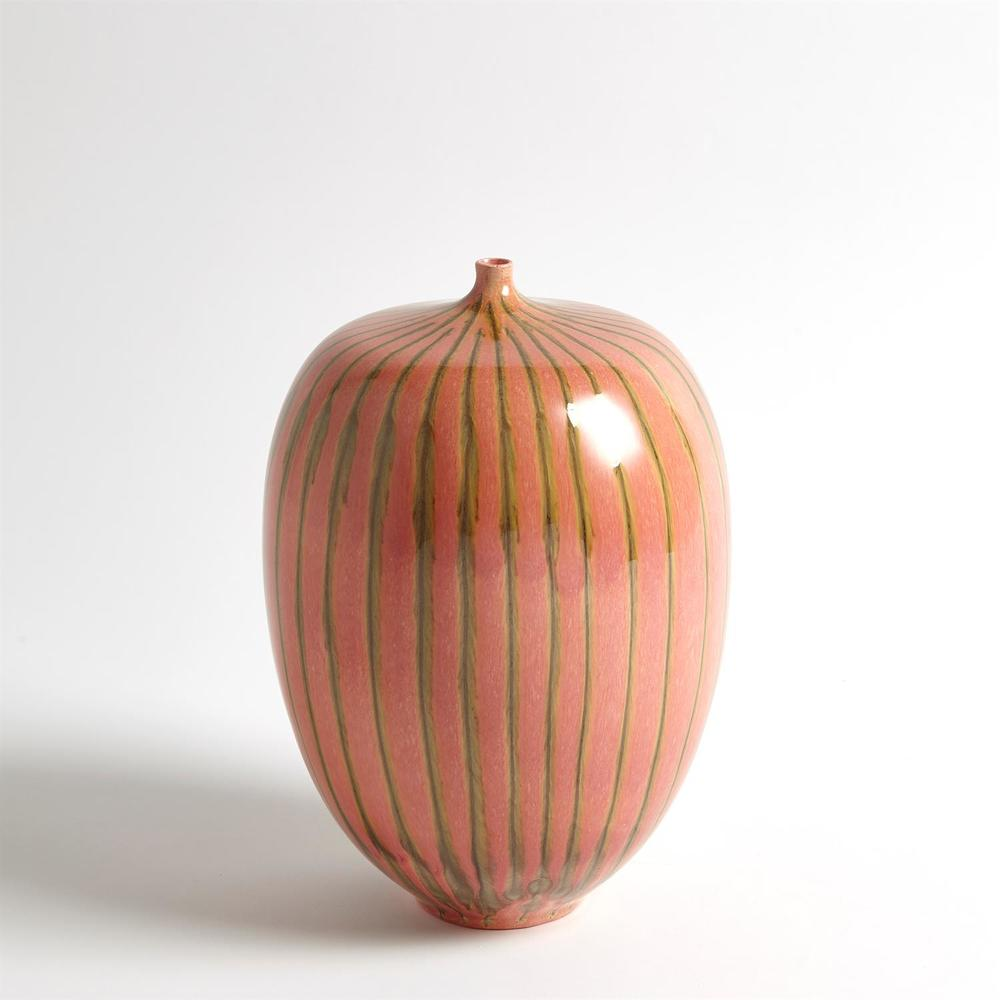 Global Views - Striped Melon Vase, Small