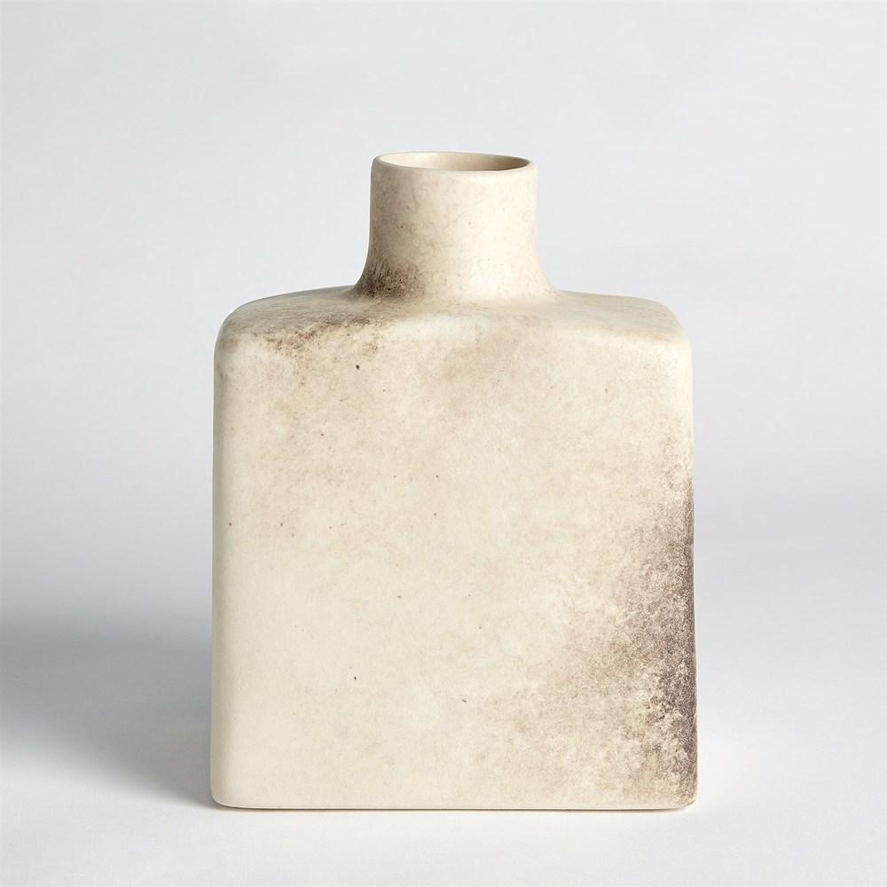 GLOBAL VIEWS - Short Stack Bottle, Reactive Ivory, Large