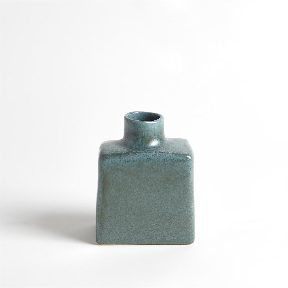 Global Views - Short Stack Bottle, Sea Mist, Medium