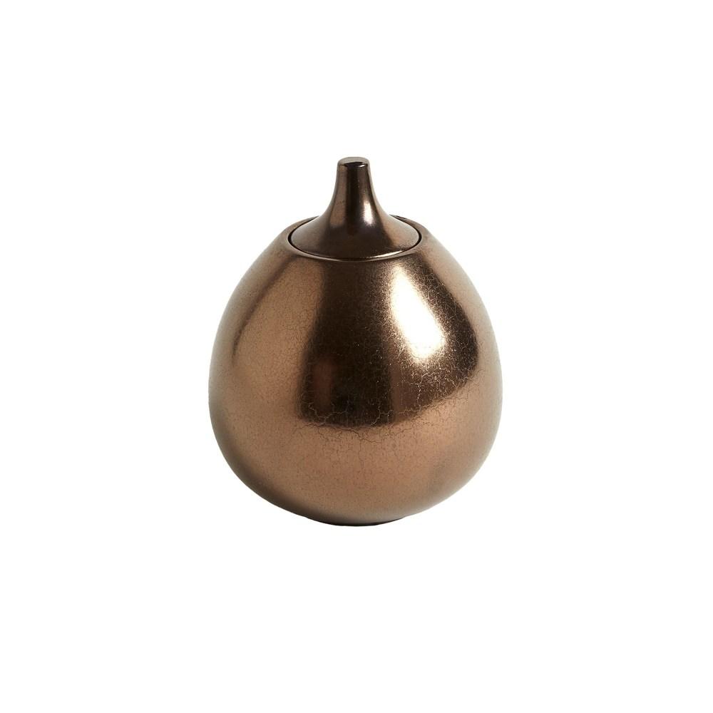 Global Views - Lidded Gourde, Smooth, Bronze