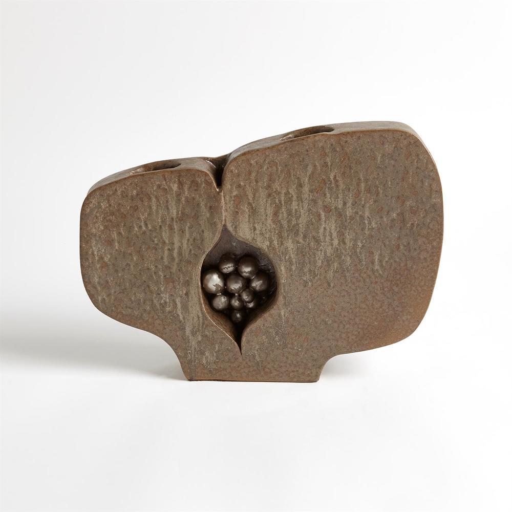Global Views - Seed Pod Vase, Metallic, Large