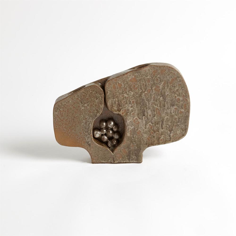 Global Views - Seed Pod Vase, Metallic, Small