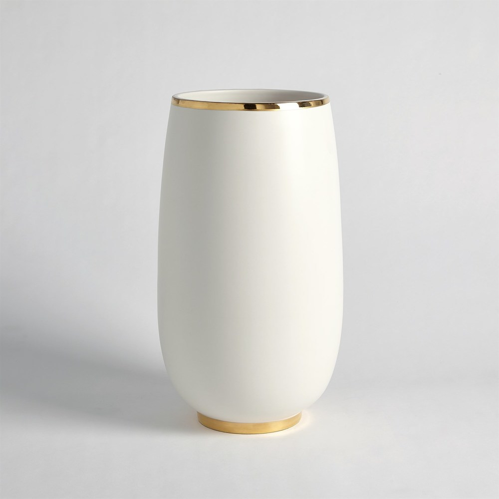 Global Views - Gold Rim Bulb Vase, Large
