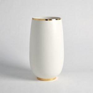 Thumbnail of Global Views - Gold Rim Bulb Vase, Large