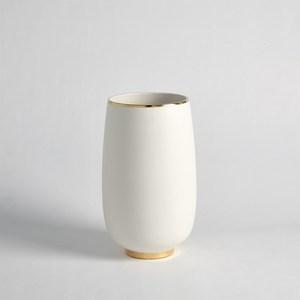 Thumbnail of Global Views - Gold Rim Bulb Vase, Medium