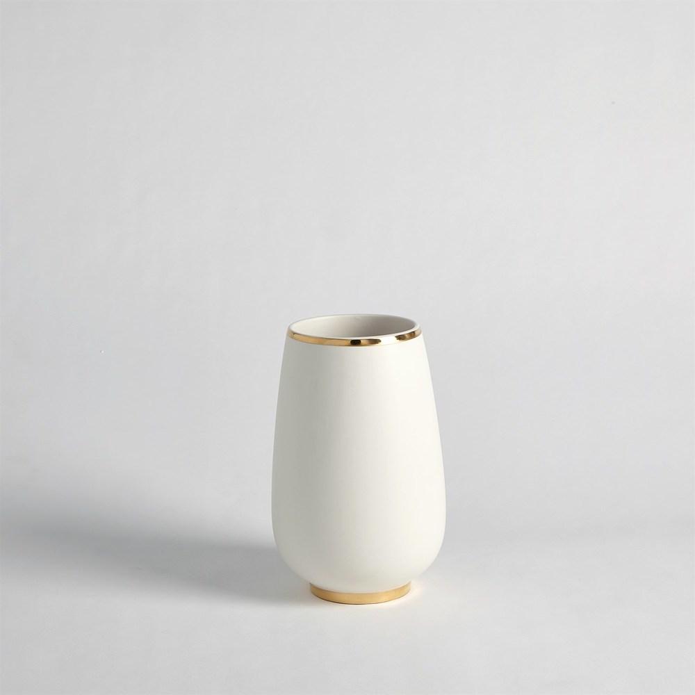 Global Views - Gold Rim Bulb Vase, Small