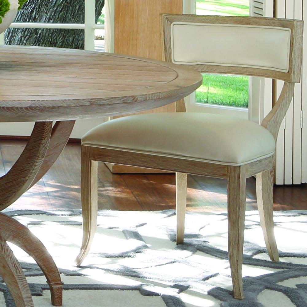 GLOBAL VIEWS - Klismos Chair, Beige Leather