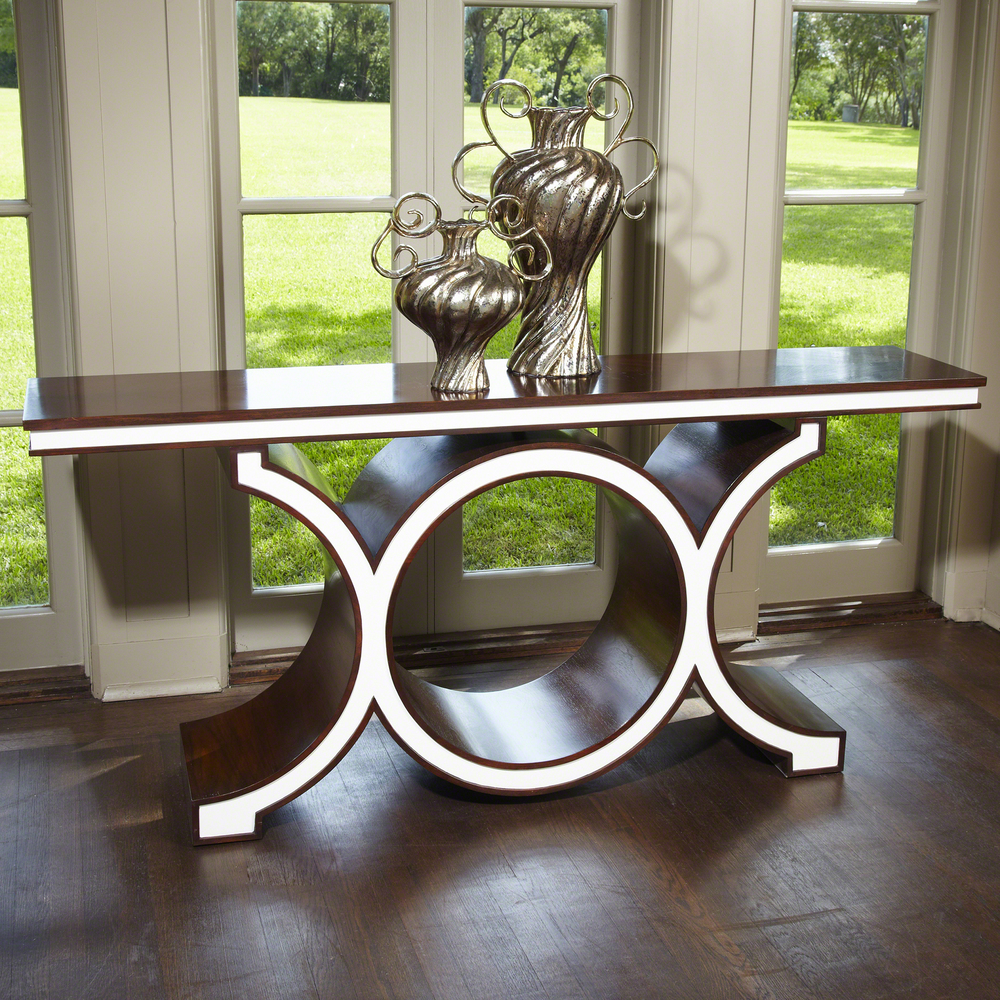 Global Views - Walnut Ivory Link Console