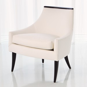 Thumbnail of Global Views - Boomerang Chair, White Leather
