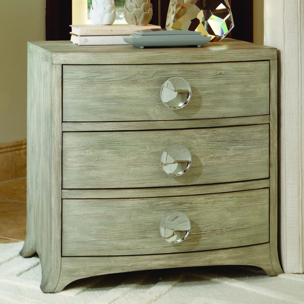 Global Views - Bow Front Three Drawer Chest