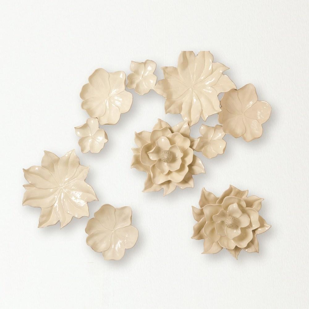 GLOBAL VIEWS - Magnolia Wall Flower, Ivory