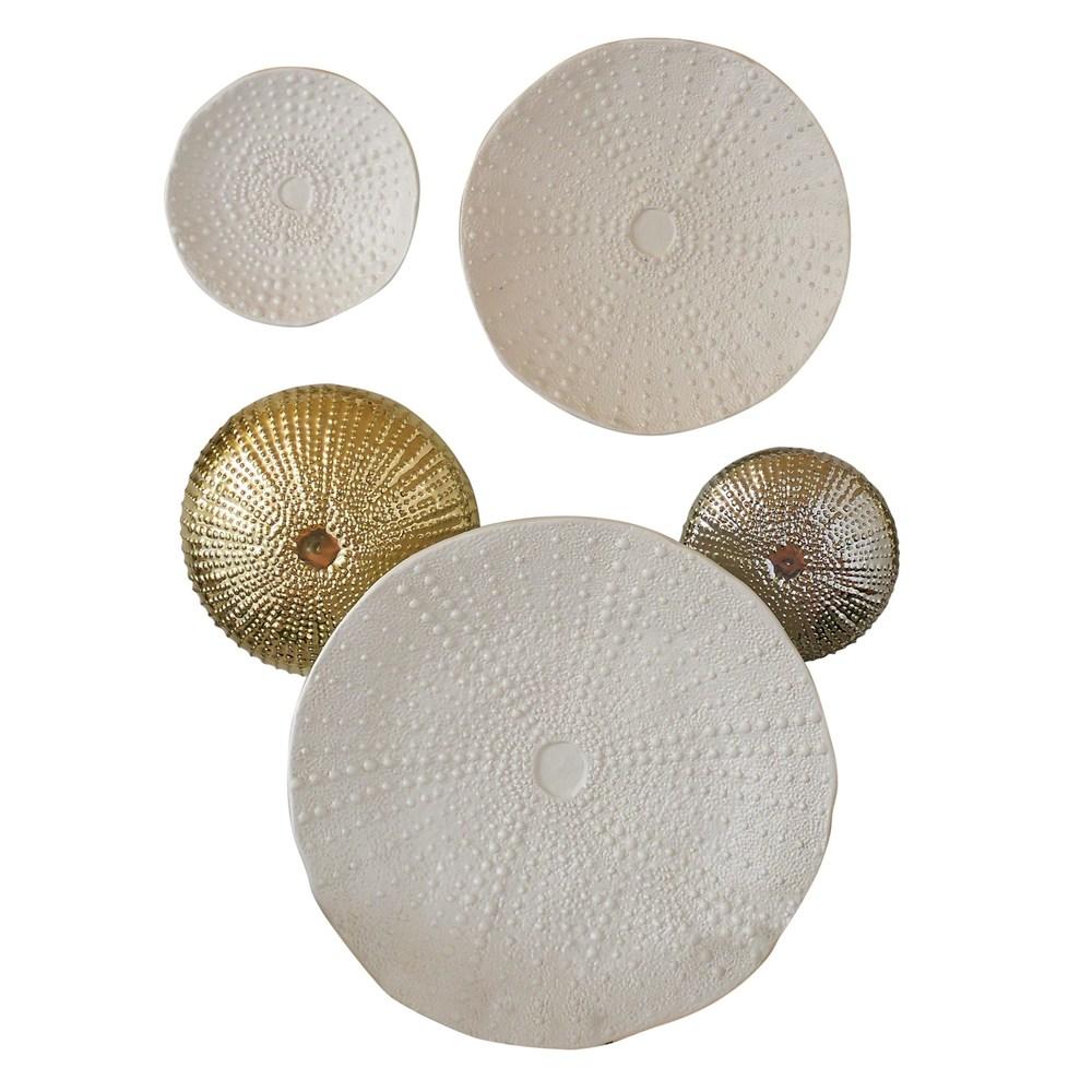 Global Views - Ceramic Urchin Platter, Matte White, Medium