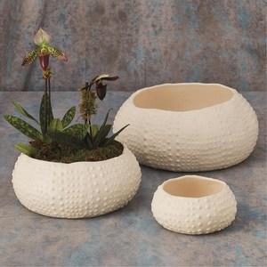 Thumbnail of Global Views - Ceramic Urchin Bowl, Matte White, Medium