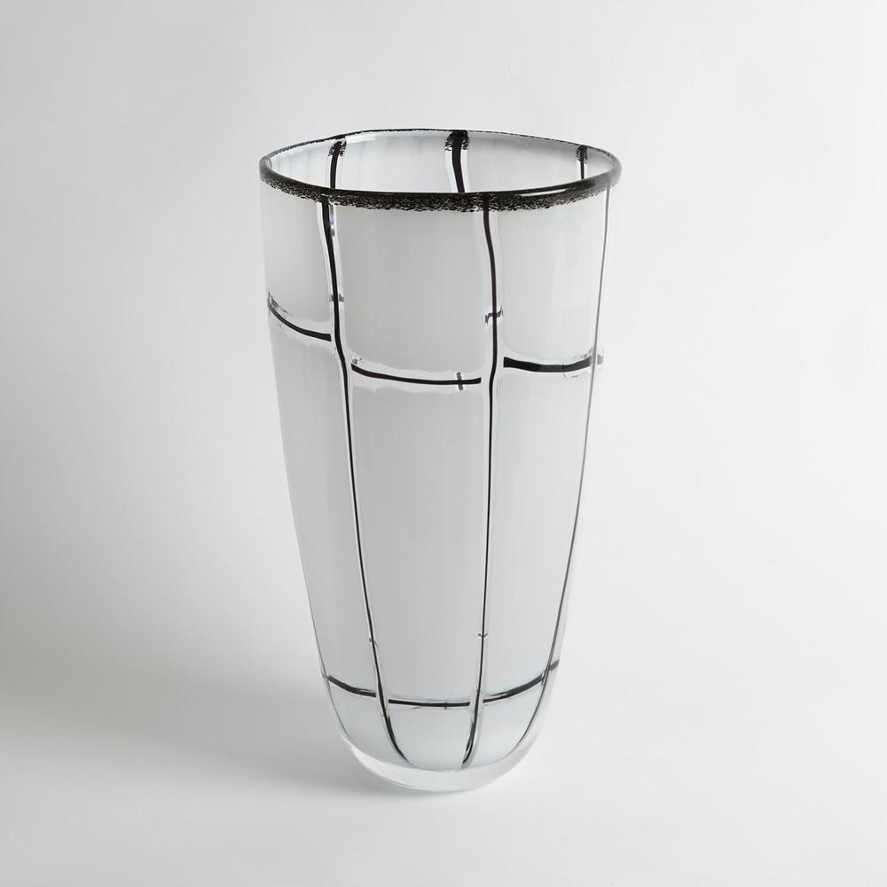 Global Views - Abstract Grid Vase