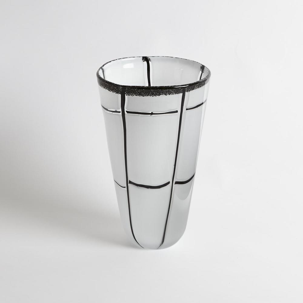 GLOBAL VIEWS - Abstract Grid Vase