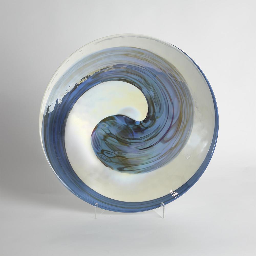 Global Views - Ocean Swirl Charger