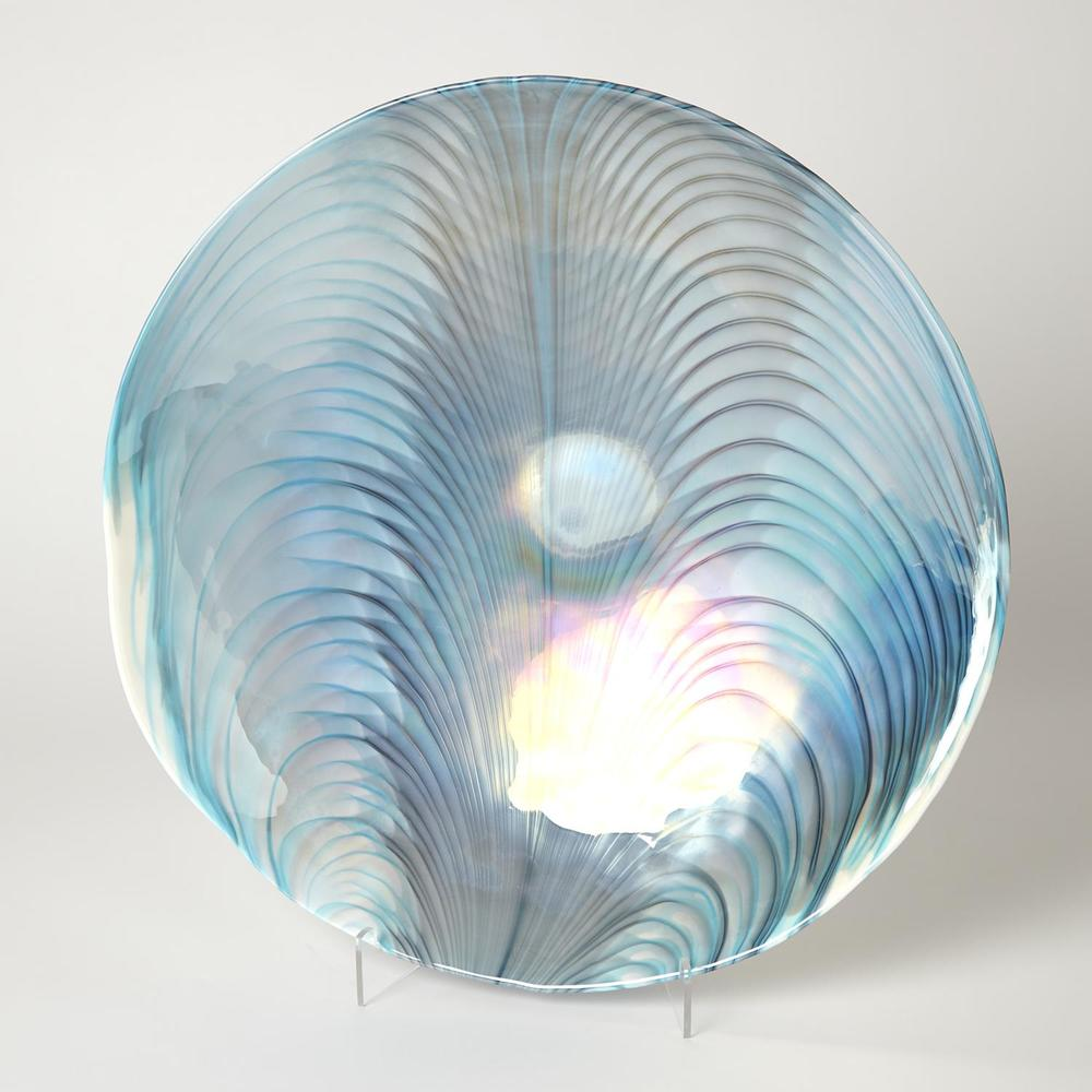 Global Views - Feather Swirl Centerpiece Bowl/Charger
