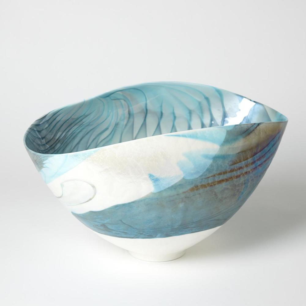 Global Views - Feather Swirl Oval Bowl