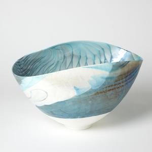 Thumbnail of Global Views - Feather Swirl Oval Bowl