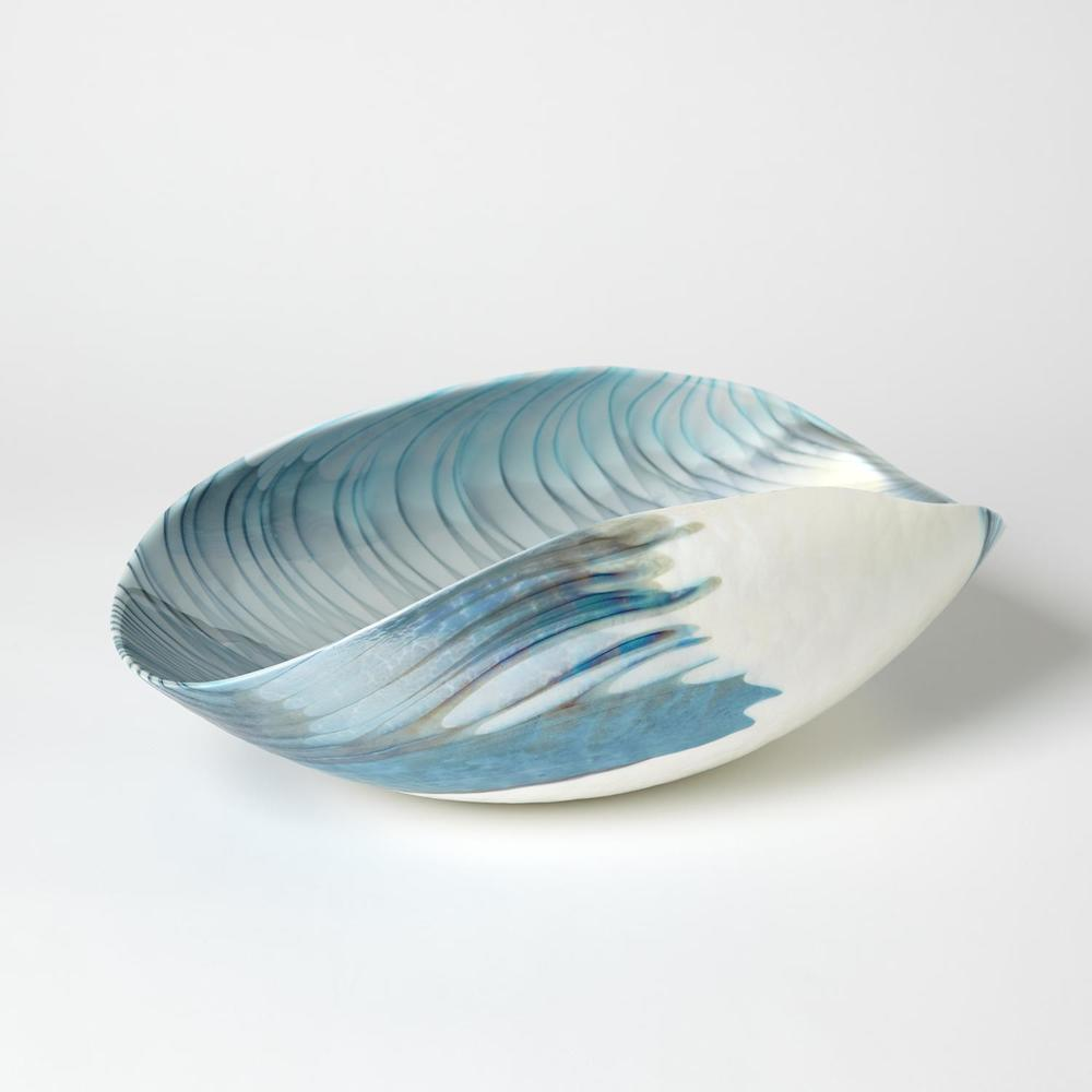 Global Views - Feather Swirl Oval Folded Bowl