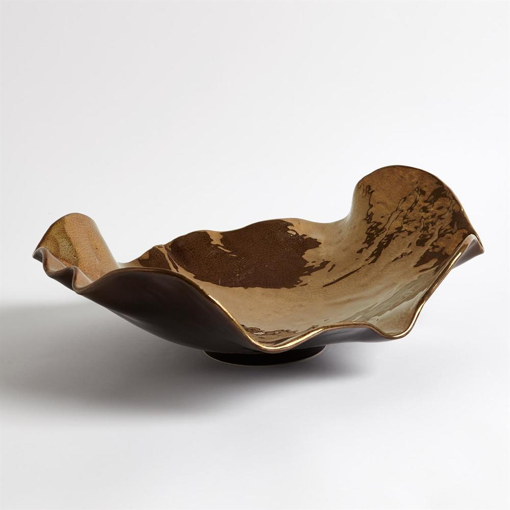 Global Views - Wave Platter, Bronze Crackle