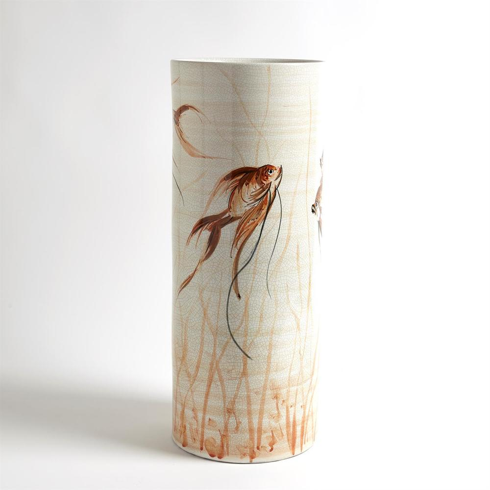 Global Views - Hand Painted Goldfish Vase, Large