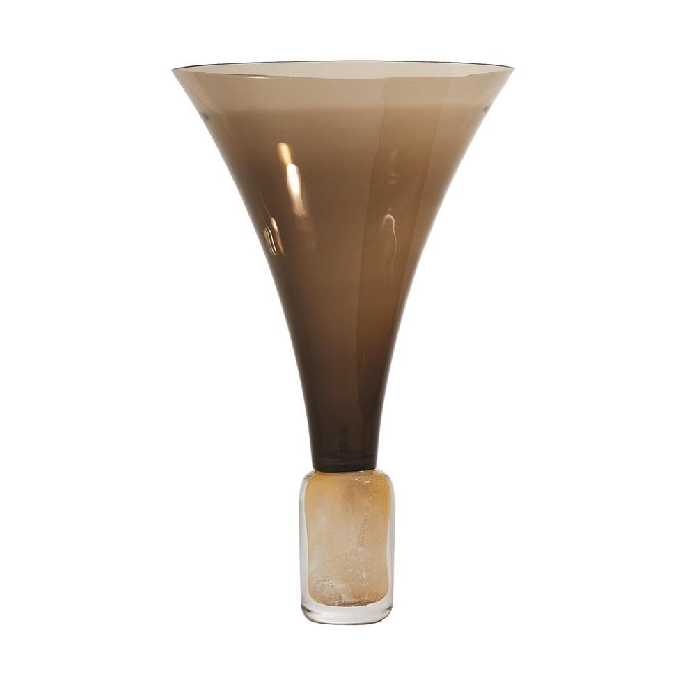 Global Views - Golden Smoke Trumpet Vase