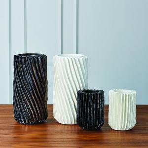 Thumbnail of Global Views - Radiator Swirl Vase, Matte White, Small
