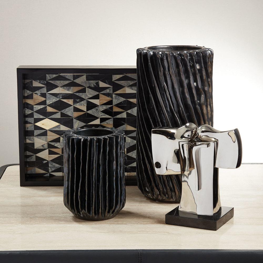 Global Views - Radiator Swirl Vase, Small