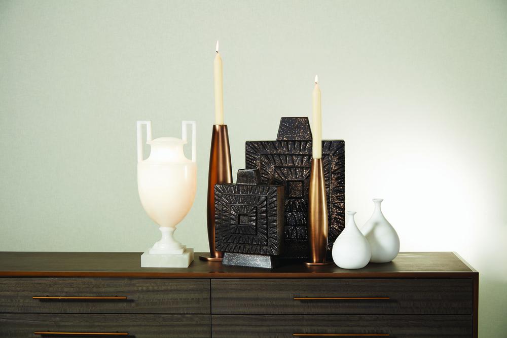 Global Views - Alabaster Teardrop Vase, Large