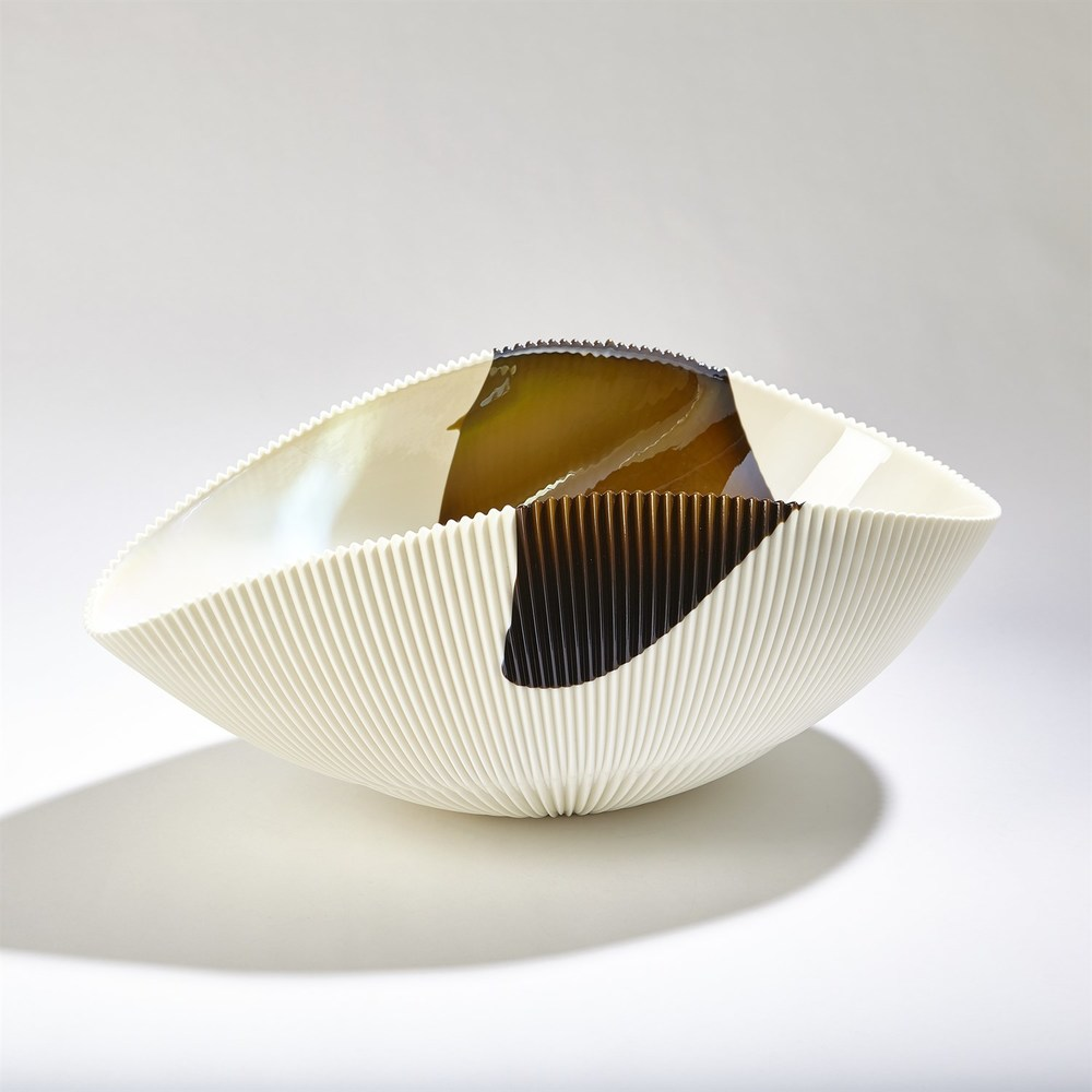 GLOBAL VIEWS - Pleated Bowl, Large