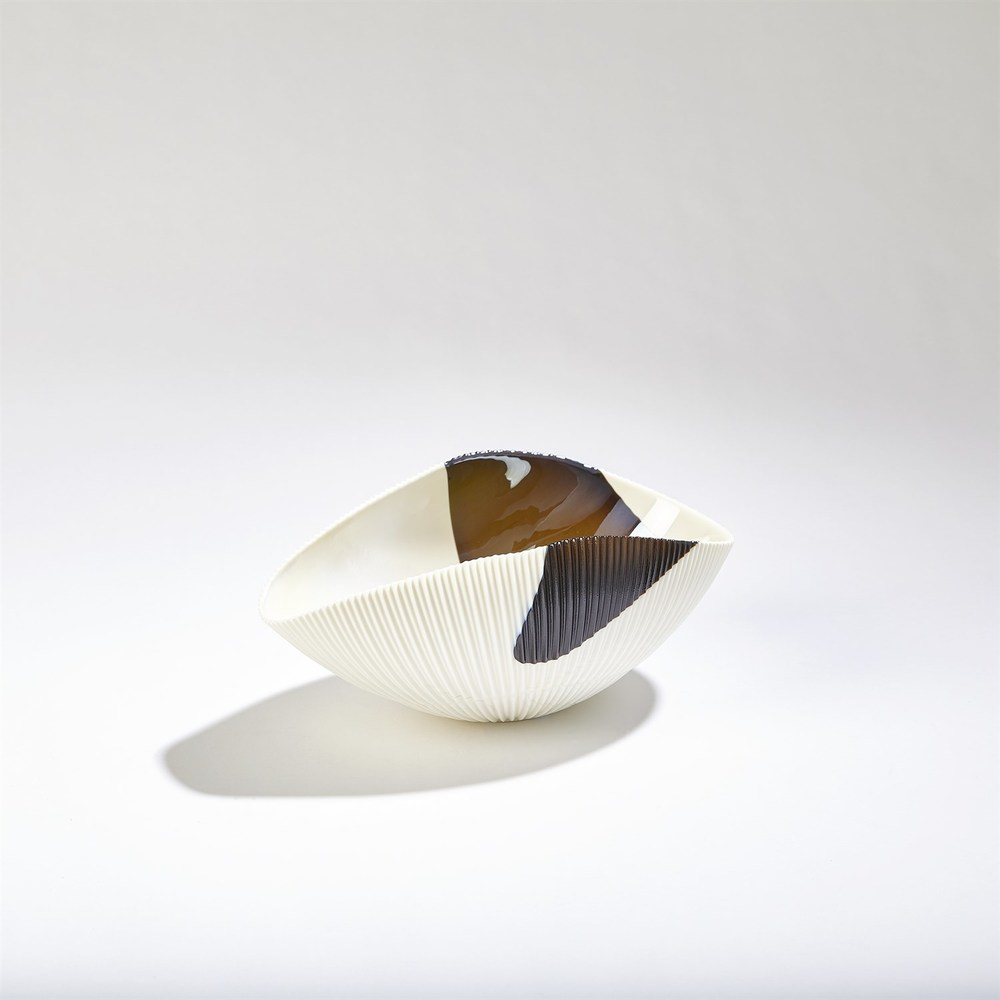 GLOBAL VIEWS - Pleated Bowl, Small