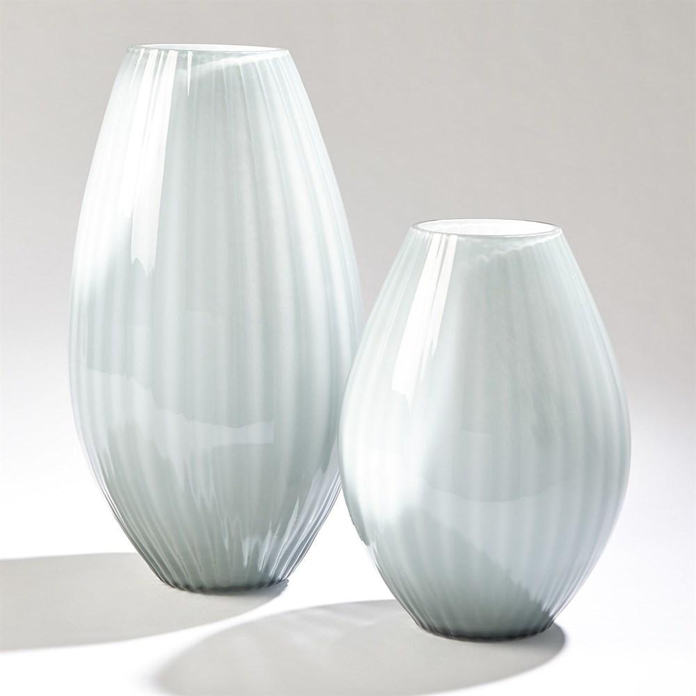 Global Views - Cased Glass Stripe Vase, Large