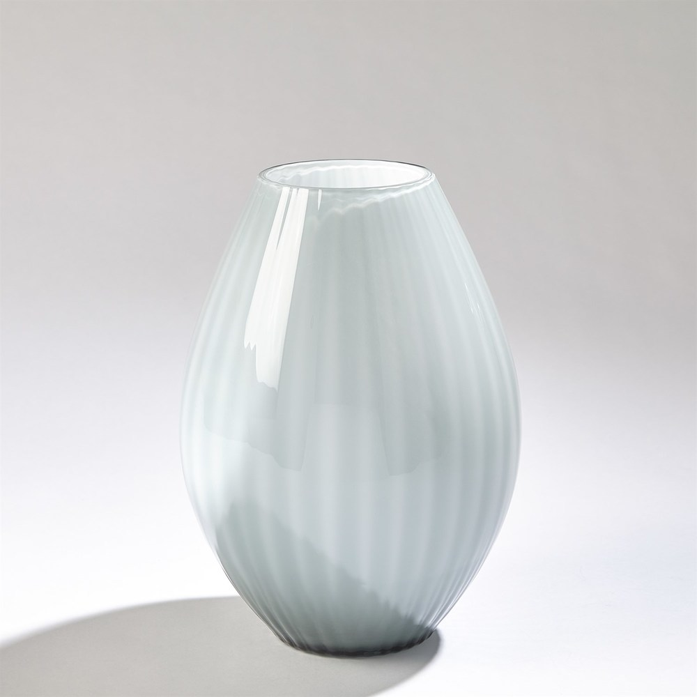 GLOBAL VIEWS - Cased Glass Stripe Vase, Small