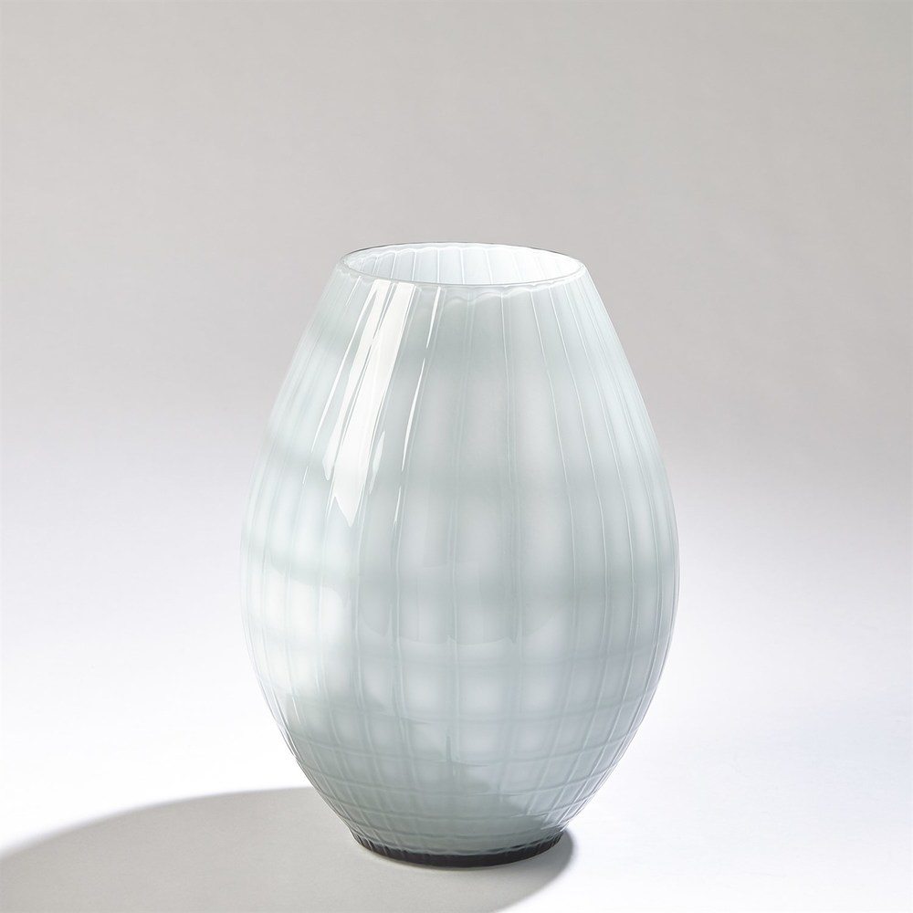 Global Views - Cased Glass Grid Vase, Small