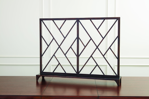 Thumbnail of Global Views - Chinoise Fret Fireplace Screen