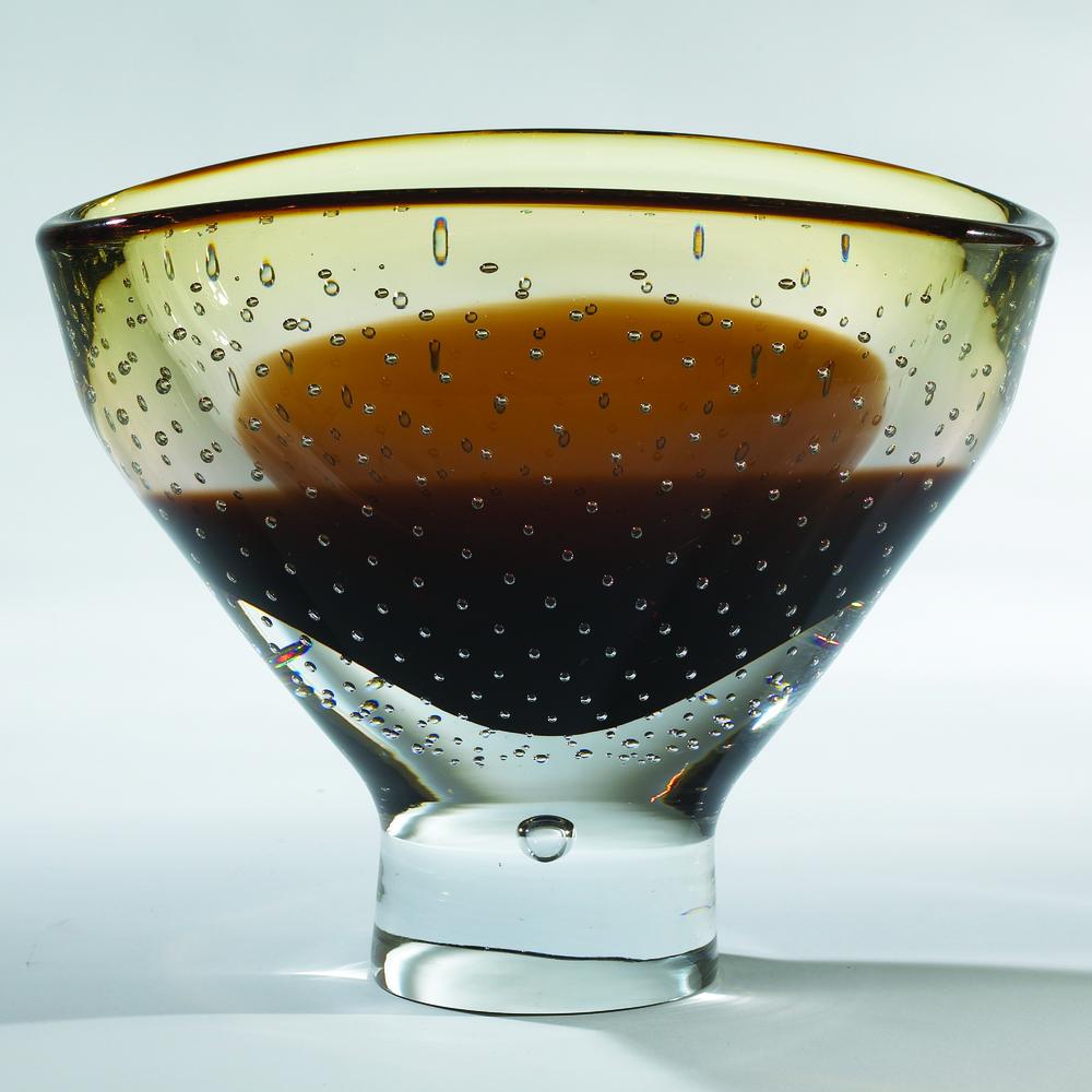 Global Views - Amber Bubble Bowl